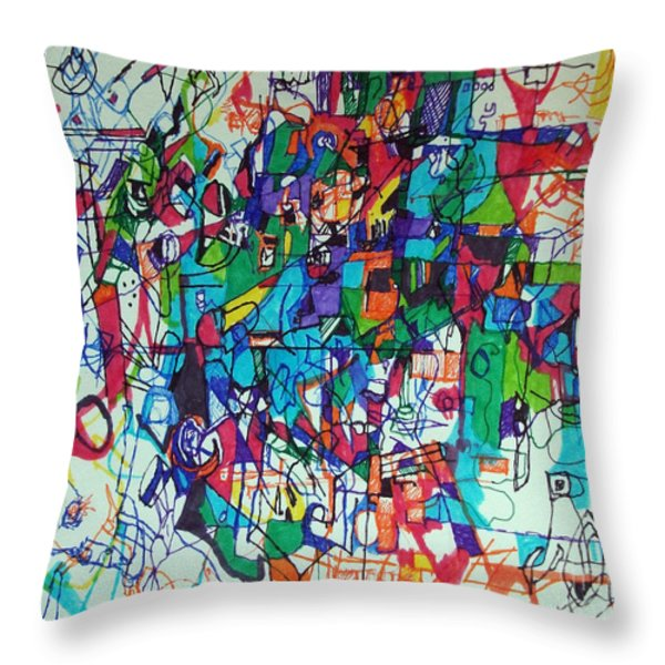 Escape from Hatred 1 Throw Pillow by David Baruch Wolk