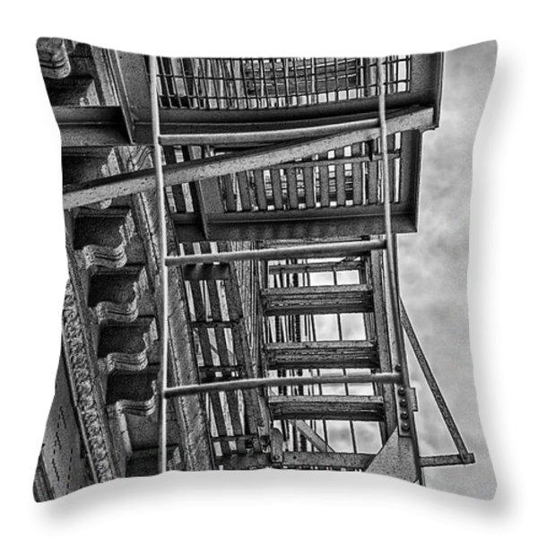 Escher Escape Throw Pillow by Madeline Ellis