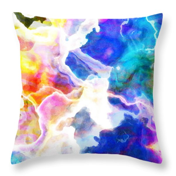 Essence - Abstract Art Throw Pillow by Jaison Cianelli