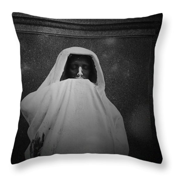 'eternal Silence'- Graceland Cemetery Chicago Throw Pillow by Christine Till