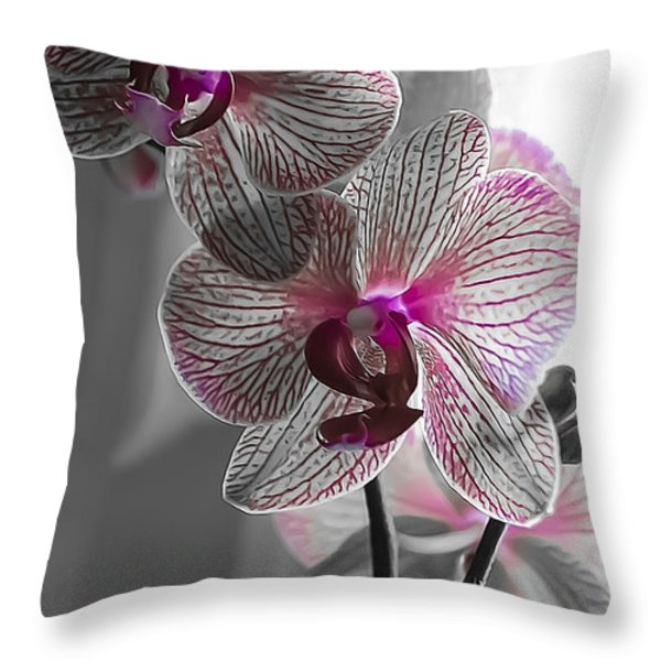 Ethereal Orchid Throw Pillow by Bianca Nadeau