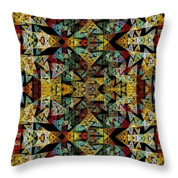 Etno Style Pattern Throw Pillow by Klara Acel