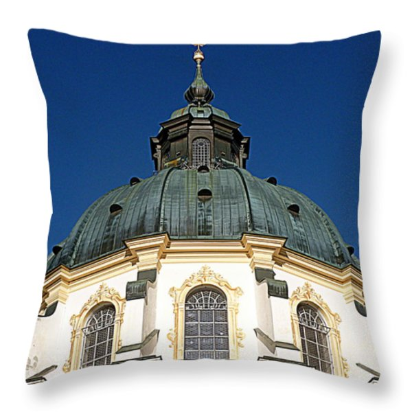 Ettal Abbey Bavaria Throw Pillow by The Creative Minds Art and Photography