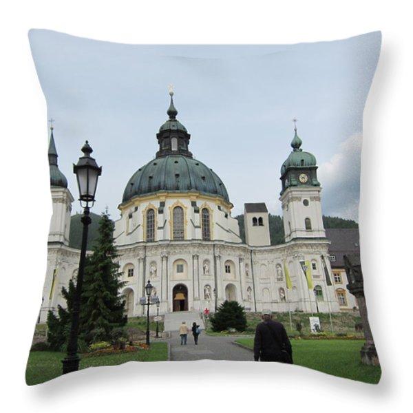 Ettal Abbey Throw Pillow by Pema Hou