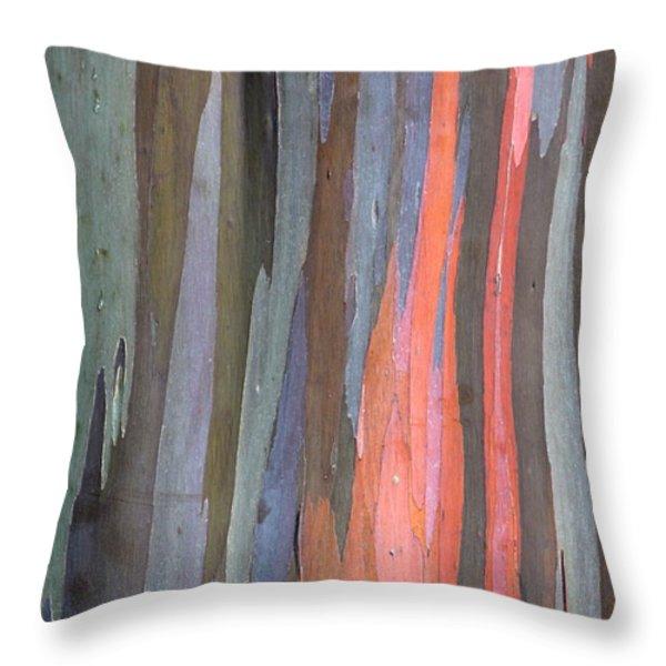 Eucalyptus Tree Bark Throw Pillow by Karon Melillo DeVega