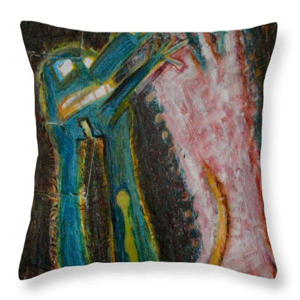 Eve Throw Pillow by Nancy Mauerman