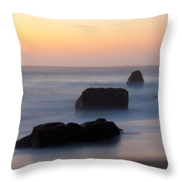 Evening At Beach 5 Throw Pillow by Catherine Lau