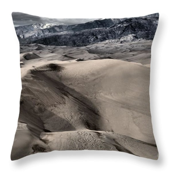 Evening At The Dunes Throw Pillow by Adam Jewell