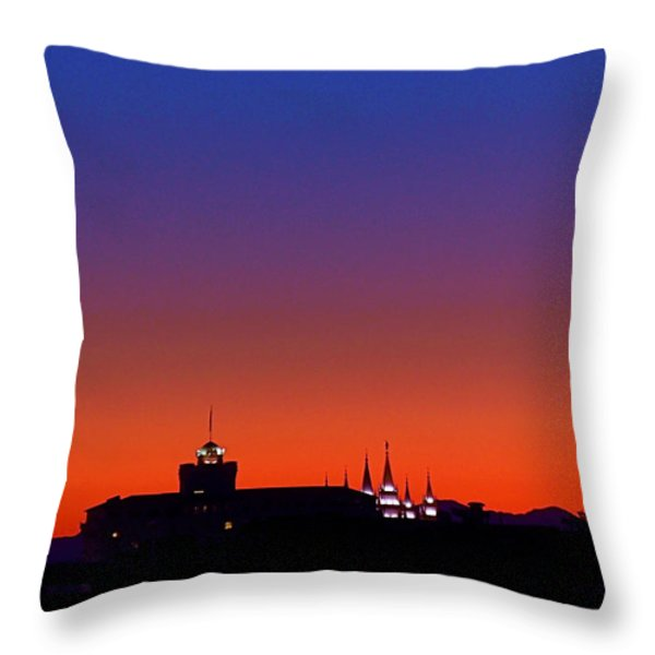 Evening Glow Throw Pillow by Rona Black