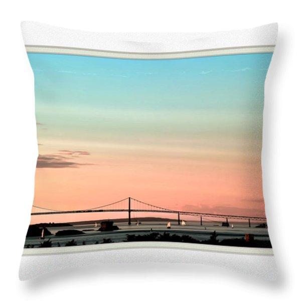 Evening Glow Throw Pillow by Tom Prendergast
