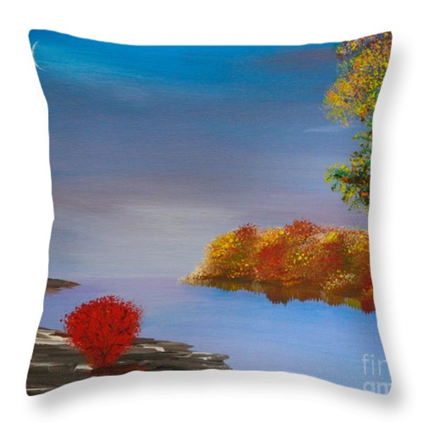 Evening On The Last Sunny Day Throw Pillow by Alys Caviness-Gober