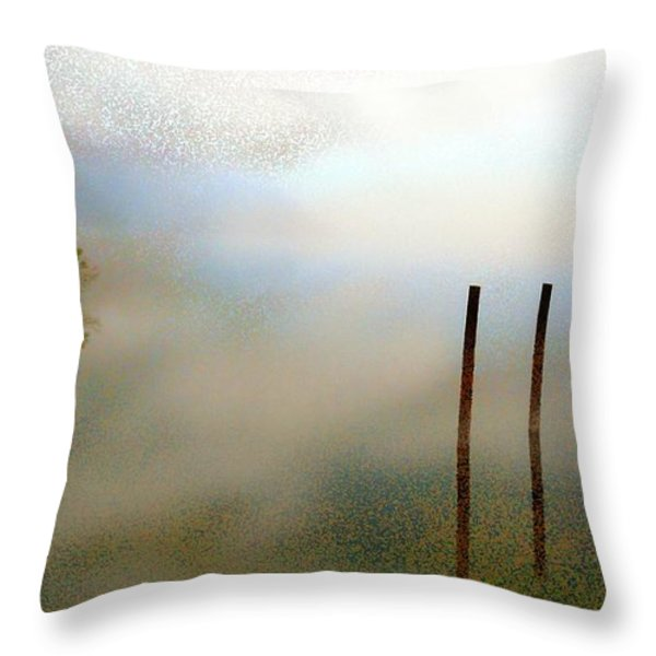 Evening Throw Pillow by Eye Browses