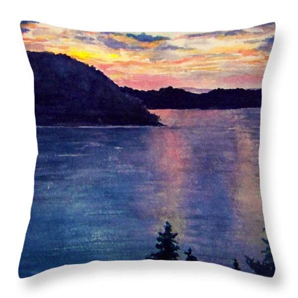 Evening Song Throw Pillow by Brenda Owen