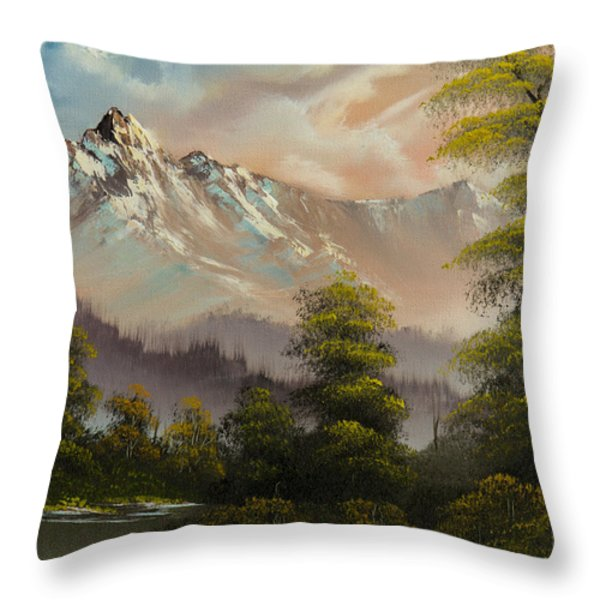 Evenings Glow Throw Pillow by C Steele