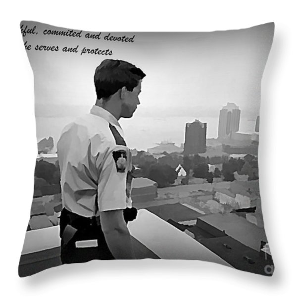 Ever Watchful Throw Pillow by John Malone