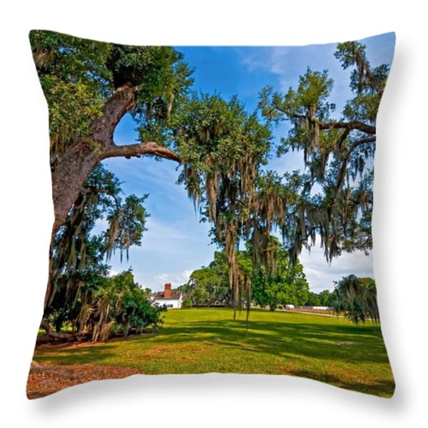 Evergreen Plantation II Throw Pillow by Steve Harrington