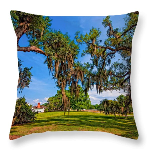 Evergreen Plantation Throw Pillow by Steve Harrington
