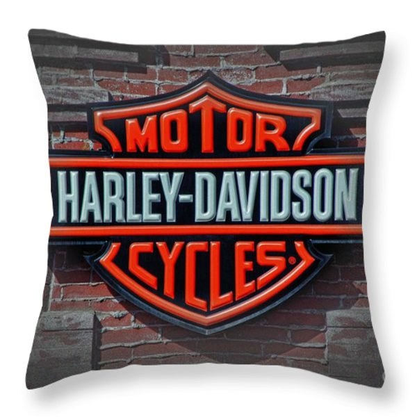 Every Bikers Love Throw Pillow by Arnie Goldstein