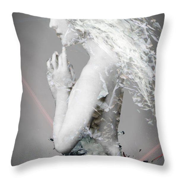 Everything isn't Black and White Throw Pillow by Bojan Jevtic
