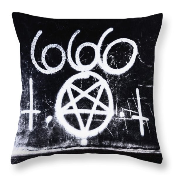 Evil Throw Pillow by Margie Hurwich