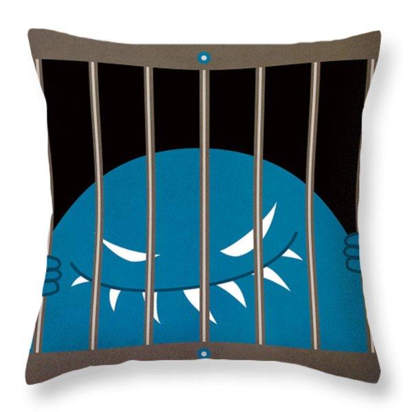 Evil Monster Kingpin Jailed Throw Pillow by Boriana Giormova