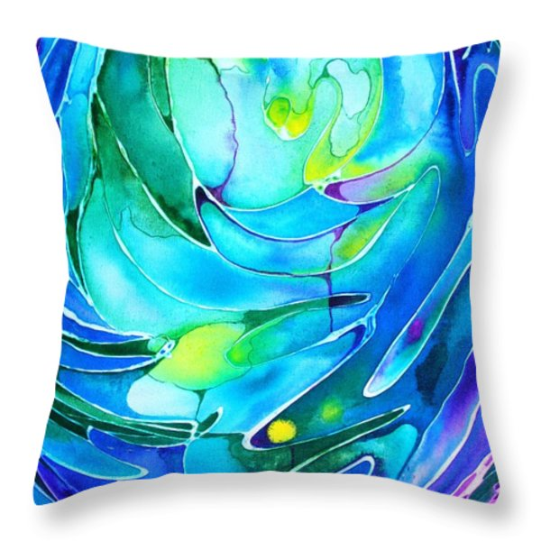 Evolve Throw Pillow by Pat Purdy