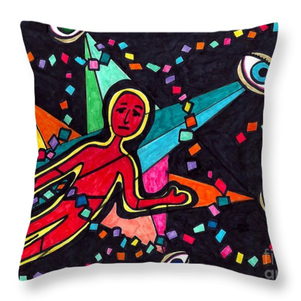 Examined Dissected Analyzed Throw Pillow by Sarah Loft