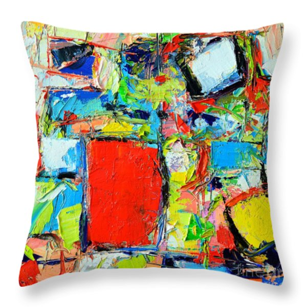 EXCESS INSTINCT Throw Pillow by ANA MARIA EDULESCU