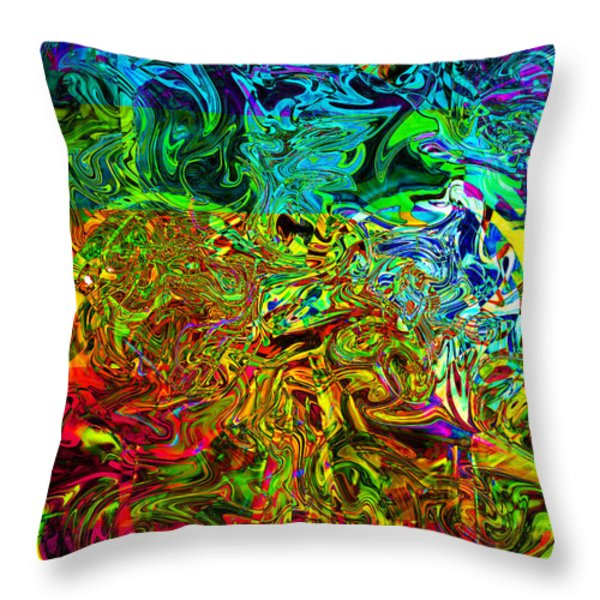 Excitement Sweeps The Room Throw Pillow by Johnny Trippick