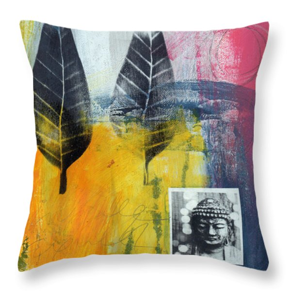 Exhale Throw Pillow by Linda Woods
