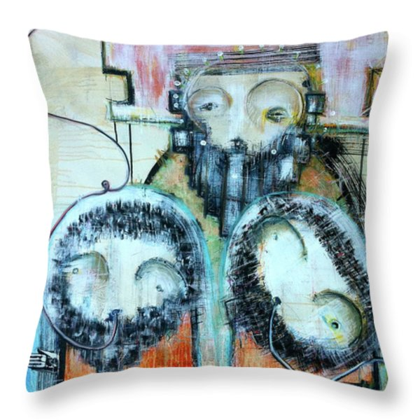Exile From The Shore Of Reason Throw Pillow by Mark M  Mellon