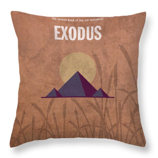 Exodus Books of the Bible Series Old Testament Minimal Poster Art Number 2 Throw Pillow by Design Turnpike
