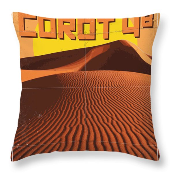 Exoplanet 05 Travel Poster Corot 4 Throw Pillow by Chungkong Art