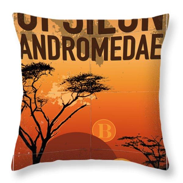 Exoplanet 06 Travel Poster Upsilon Andromedae 4 Throw Pillow by Chungkong Art