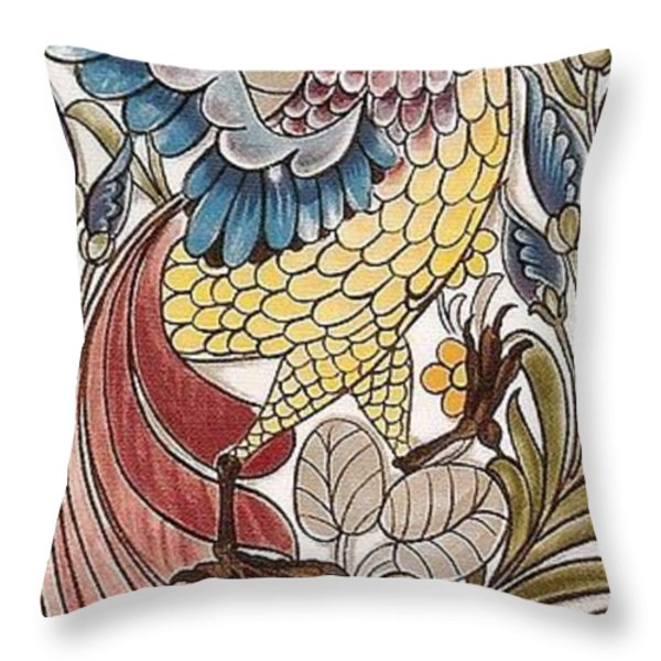 Exotic Bird Throw Pillow by William Morris