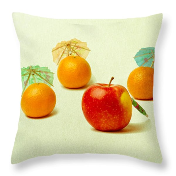 Exotic Fruit Throw Pillow by Alexander Senin
