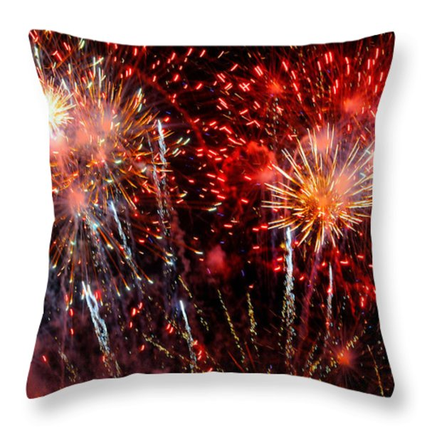 Explode Throw Pillow by Diana Angstadt
