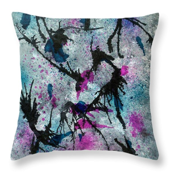 Explosion In Time Throw Pillow by Oddball Art Co by Lizzy Love