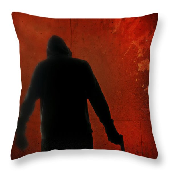 Explosive Throw Pillow by Edward Fielding
