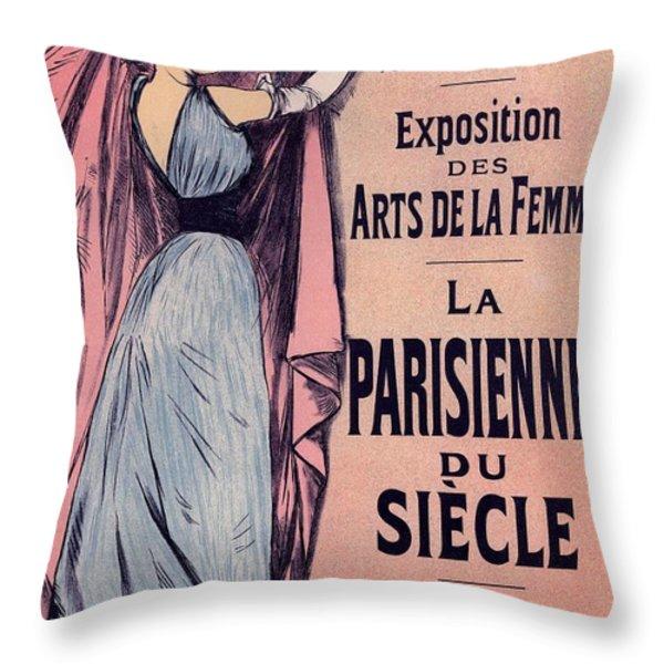 Exposition Des Arts De La Femme Throw Pillow by Gianfranco Weiss