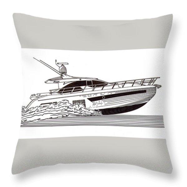 Express Sport Yacht Throw Pillow by Jack Pumphrey
