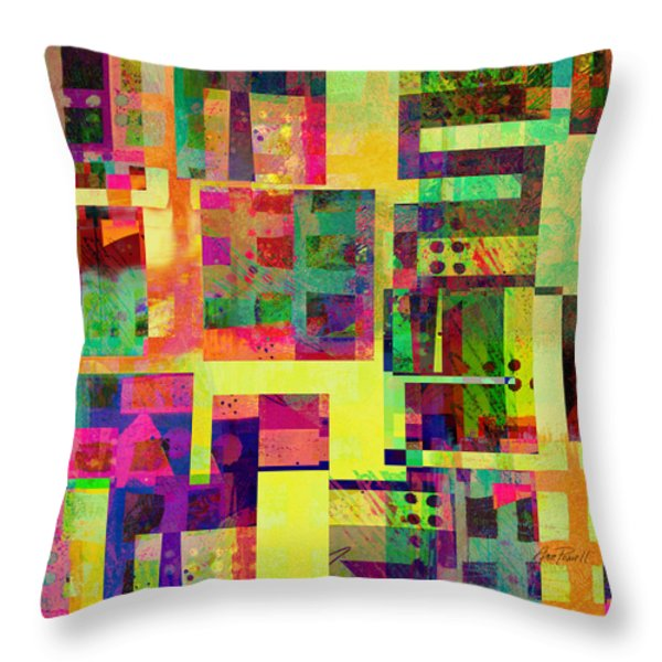 Extreme Color  Abstract Art Throw Pillow by Ann Powell