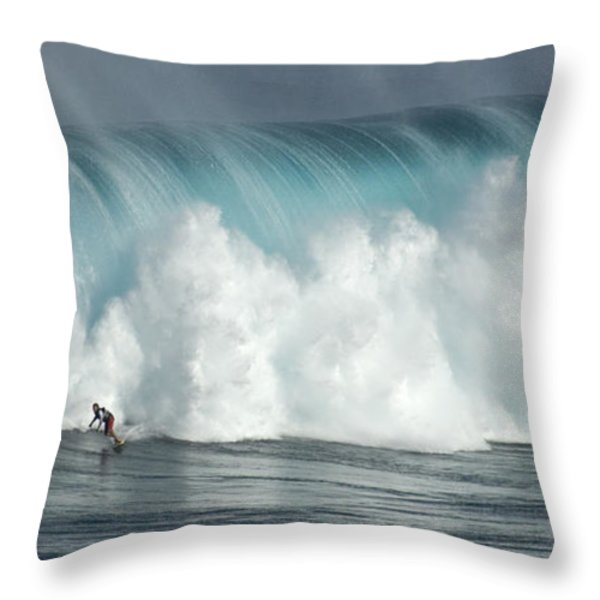 Extreme Ways Of Living Throw Pillow by Bob Christopher