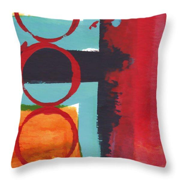 Exuberance Mini 01 Throw Pillow by Carol Leigh