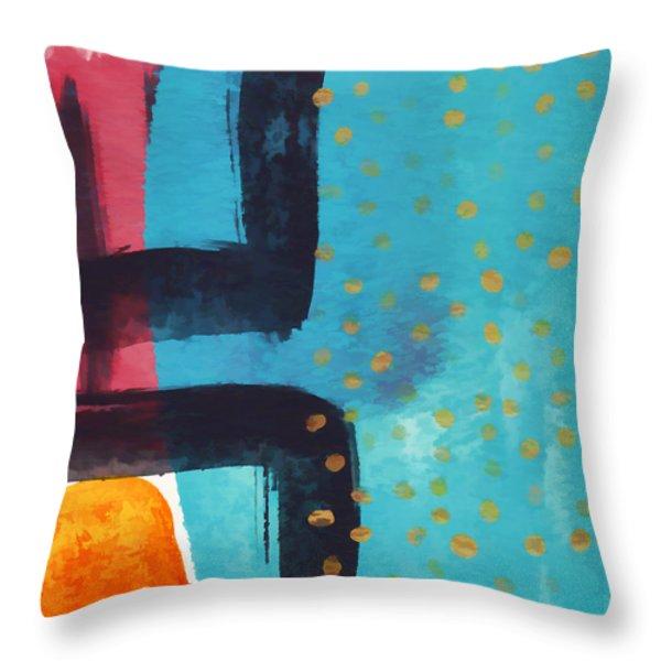 Exuberance Mini 03 Throw Pillow by Carol Leigh