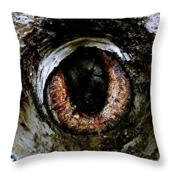 Eye In The Tree 1 Throw Pillow by Jacqueline Athmann