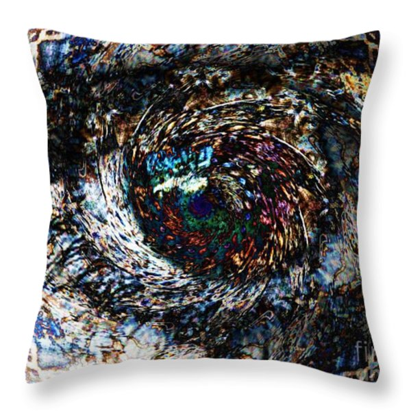 Eye Of A Hurricane Called You Throw Pillow by Elizabeth McTaggart