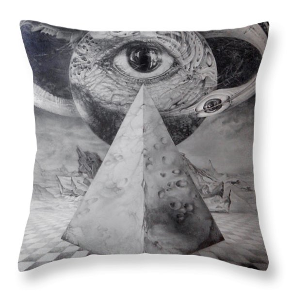 Eye Of The Dark Star - Journey Through The Wormhole Throw Pillow by Otto Rapp