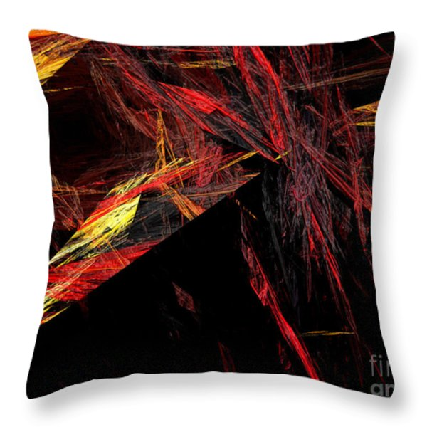 Eye Of The Storm 1 - Direct Hit - Abstract - Fractal Art Throw Pillow by Andee Design