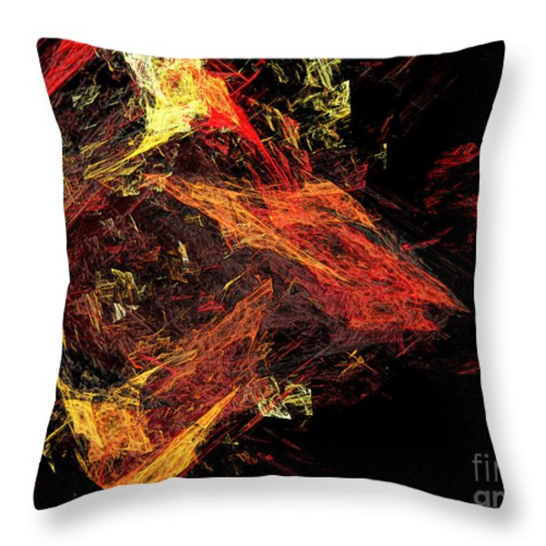 Eye Of The Storm 3 - Mass Chaos - Abstract - Fractal Art Throw Pillow by Andee Design